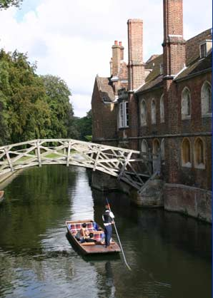 Punting under the Mathematical Bridge