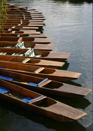 Punts for rent on the River Cam